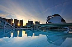 Ciencias dos las de Ciudad de las artes y. Valença-Spain Fotografia de Stock