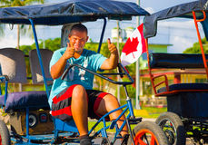 CIENFUEGOS, ΚΟΥΒΑ - 12 ΣΕΠΤΕΜΒΡΊΟΥ 2015: Bicitaxis Στοκ Φωτογραφία