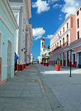 Cienfuegos. Colonial town architecture, Cuba. UNESCO World Heritage Site Stock Photo