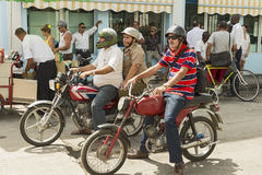 Cienfuegos bikers Stock Photo