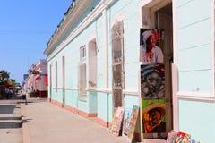 26/04/2019 Cienfuegos, Cuba, Art shop in colonial house in Cienfuegos royalty free stock photo