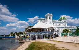 Club Cienfuegos Waterside - Cienfuegos, Cuba royalty free stock images