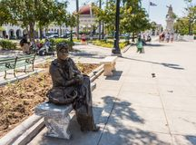Cuban Living Statue royalty free stock photo
