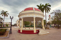 CIENFUEGOS, CUBA - Pavilion at Jose Marti square Stock Photo