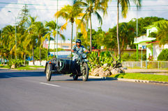CIENFUEGOS, CUBA - SEPTEMBER 12, 2015: motorcycle Royalty Free Stock Photo