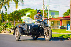 CIENFUEGOS, CUBA - SEPTEMBER 12, 2015: motorcycle Stock Photos