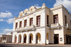 Cienfuegos, Cuba: The Tomas Terry Theater. Cienfuegos, Cuba - December 17, 2016: The Tomas Terry Theater in Cienfuegos UNESCO World Heritage Centre, Cuba Royalty Free Stock Images