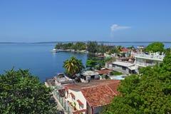 Cienfuegos fjärd fotografering för bildbyråer