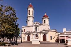 Cienfuegos Kuba - MARS 11, 2018: Slott för regulator` s längs plazaen de Armas i Cienfuegos, KUBA Arkivbilder