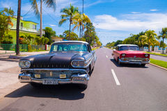 CIENFUEGOS, KUBA - 12. SEPTEMBER 2015: Klassisch Lizenzfreies Stockbild