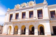 CIENFUEGOS KUBA - SEPTEMBER 12, 2015: Teater Fotografering för Bildbyråer