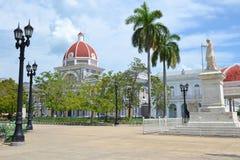 Cienfuegos Parque Jose Marti royaltyfri fotografi
