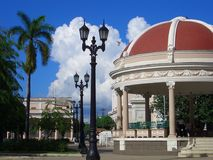 Cienfuegos Square. Parque Jose Marti, Cienfuegos, Cuba, Caribbean royalty free stock photo