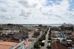 Cienfuegos stadssikt Arkivfoton