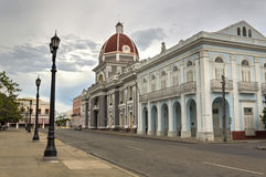 Cienfuegos town hall. The town hall in Cienfuegos, Cuba, on a sunday late afternoon royalty free stock photo