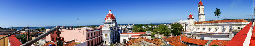 Cienfuegos town from a roof top Royalty Free Stock Photography