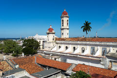 Cienfuegos town from a roof top Royalty Free Stock Image