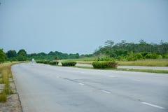 Cienfuegos väg royaltyfria bilder