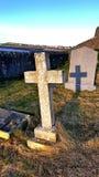 Cienia cmentarz Obrazy Royalty Free