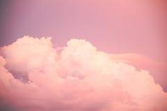 Cienia niebo z różowymi chmurami Zdjęcie Stock