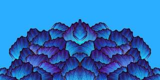 Cienie b??kit Abstrakcjonistyczny symetryczny wz?r niebieski wz?r abstrakcyjne E obraz royalty free