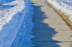 Cienie chodniczek góry Zdjęcia Stock