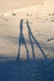Cienie ludzie w pustyni Zdjęcie Royalty Free