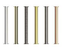 Cienie metal drymby z złączami Fotografia Royalty Free