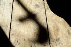 Cienie na Drewnianej podłoga Zdjęcie Royalty Free