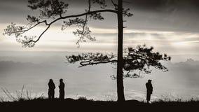 Cienie na wzgórzu Zdjęcia Royalty Free