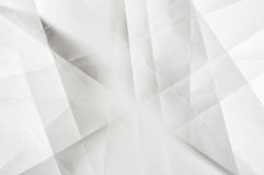Cienie popielaty na białym fałdowym papierze Fotografia Royalty Free