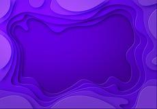 Cienie purpury z gładkimi przejściami cią od papieru Miejsce dla reklamy zawiadomienia abstrakcjonistyczna sztuka cyzelowanie royalty ilustracja