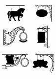 Cienie roczników znaki royalty ilustracja