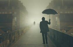 Cienie w mgle Obrazy Royalty Free