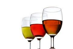 Cienie wino Obraz Royalty Free