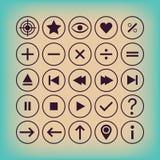 Cienieje konturów kontrolerów, obliczenie, symbole, Fotografia Stock