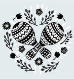 Cienieje kreskową ikonę - marakasy 10 eps Odosobniony przedmiot ilustracji