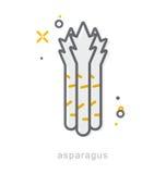 Cienieje kreskowe ikony, asparagus Zdjęcie Royalty Free
