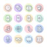 Cienieje Kreskowe ikony Dla czasu wolnego Zdjęcie Stock