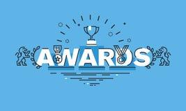 Cienieje kreskowego projekta pojęcie dla nagrody strony internetowej sztandaru Zdjęcie Stock