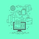 Cienieje kreskowy biznesowy infographic Zdjęcie Stock