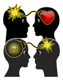 Cienieje linię między miłością i nienawiścią ilustracji