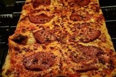 Cienieje skorupa baleronu pizzę Zdjęcia Royalty Free