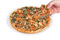 Cienieje skorupy pizzę (ścinek ścieżka zawierać) Fotografia Royalty Free