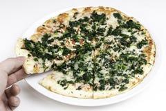 Cienieje skorupy pizzę z ścinek ścieżką Fotografia Stock