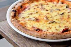 Cienieje skorupy pizzę Zdjęcia Stock