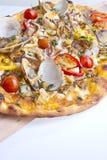 cienka skorupy pizza Zdjęcie Stock