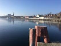Cienki żakiet lód na Plöner Widzii Jeziornego PLön Zdjęcia Royalty Free
