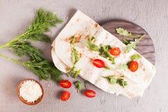 Cienki armenian pita chleb obraz stock
