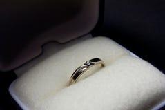 cienki diamentowy pierścionek Fotografia Royalty Free